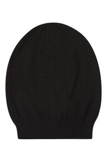 Черная шапка из кашемира Rick Owens