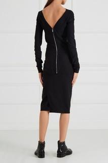 Черное платье-футляр Rick Owens