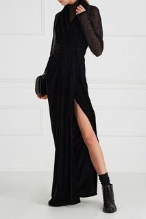 Черное бархатное платье Rick Owens