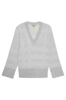 Пуловер с рельефную клетку Burberry