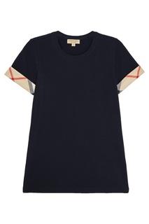Синяя футболка из хлопка Burberry