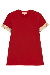 Красная футболка из хлопка Burberry