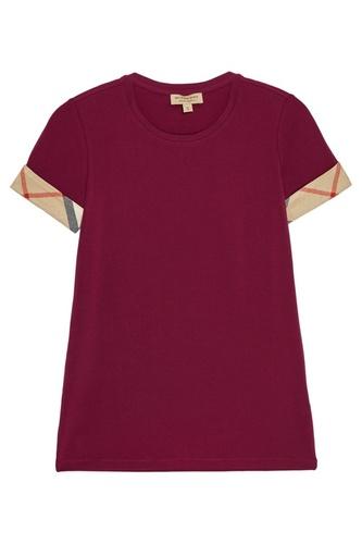 Бордовая футболка из хлопка