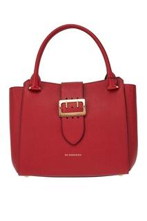 Красная сумка-тоут из кожи Burberry