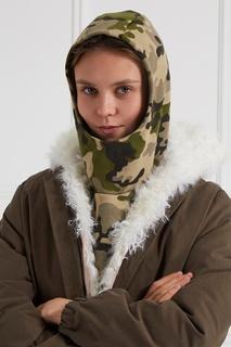 Капюшон из камуфляжного хлопка Blank.Moscow