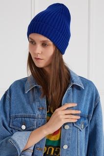 Синяя шапка с отворотом Blank.Moscow