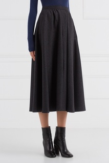 Шерстяная юбка-миди (1980-е) Guy Laroche Vintage