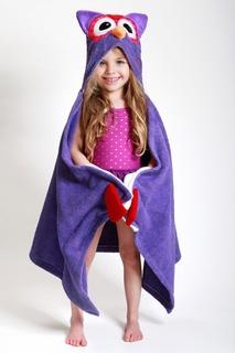 Фиолетовое полотенце с капюшоном Zoocchini