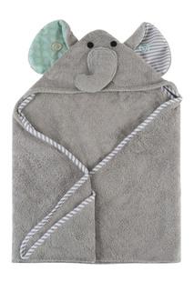Серое детское полотенце с капюшоном Zoocchini
