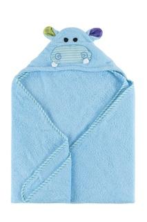 Голубое детское полотенце с капюшоном Zoocchini