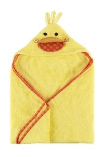 Желтое детское полотенце с капюшоном Zoocchini