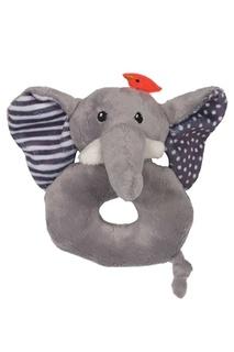 Серая погремушка в виде слона Zoocchini