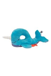 Синяя погремушка в виде кита Zoocchini