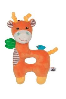 Оранжевая погремушка в виде жирафа Zoocchini