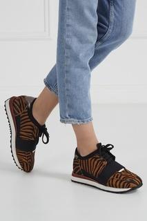 Кроссовки из кожи пони Lola Cruz