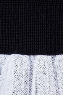 Комбинированное платье-свитер Dior Children