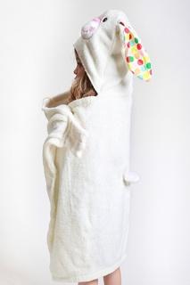Белое полотенце с капюшоном Zoocchini