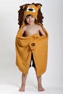 Бежевое детское полотенце с капюшоном Zoocchini