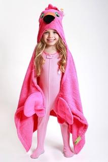 Розовое полотенце с капюшоном Zoocchini