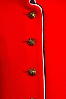 Однобортное красное пальто Gucci Children