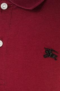 Бордовый лонгслив-поло Burberry Children
