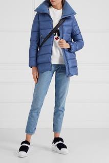 Кожаные кеды с мехом Victoire Moncler