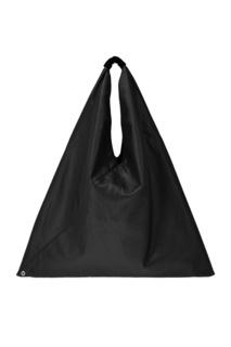 Однотонная черная сумка-хобо Mm6 Maison Margiela