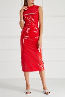 Платье из красного лака Subterranei