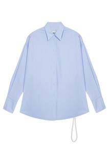 Хлопковая рубашка с жемчужным поясом Mm6 Maison Margiela