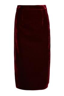 Бархатная юбка с разрезами Mm6 Maison Margiela