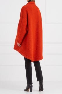 Пальто с асимметричным низом Mm6 Maison Margiela