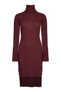 Трикотажное платье в рубчик Mm6 Maison Margiela