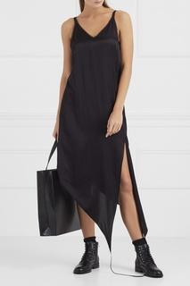 Асимметричное платье-комбинация Mm6 Maison Margiela