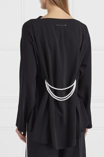 Блузка с жемчужным поясом Mm6 Maison Margiela