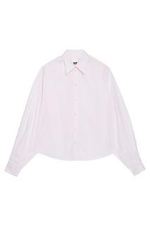 Хлопковая рубашка розовая Mm6 Maison Margiela