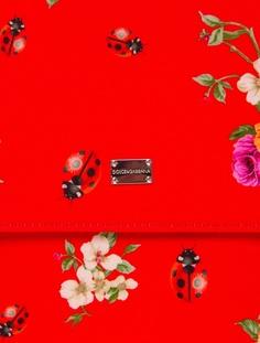 Кожаный портфель с принтом Dolce&Gabbana Children