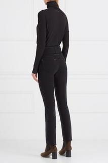 Хлопковые брюки с ремнем черные Mm6 Maison Margiela