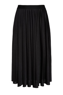 Черная плиссированная юбка Essentiel