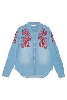 Джинсовая рубашка с вышивкой Essentiel