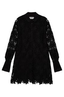 Платье из кордового кружева черное Essentiel