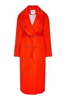 Двубортное пальто из шерсти и мохера Essentiel