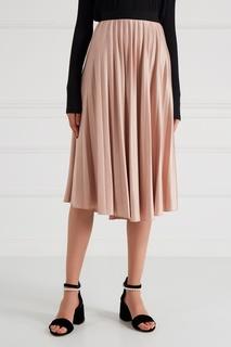 Розовая плиссированная юбка Essentiel