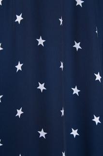 Синее платье-рубашка со звездами Nina Ricci