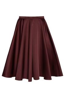 Бордовая юбка-колокол Rochas