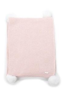 Плед из шерсти и кашемира розовый Miacompany