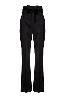 Черные брюки из атласа Ann Demeulemeester