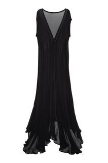 Платье из шелкового шифона Ann Demeulemeester