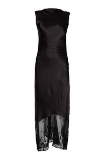 Шелковое платье с кружевом по низу Ann Demeulemeester