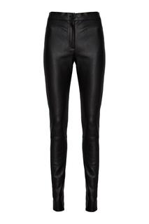 Кожаные брюки с поясом Ann Demeulemeester