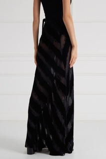 Черная юбка в полоску Ann Demeulemeester